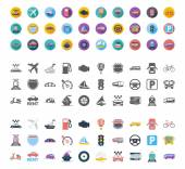 Transportation icons set Flat vector related different styles icons set for web and mobile applications It can be used as - logo pictogram icon infographic element Vector Illustration