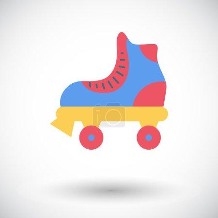 roller skate icône plate