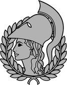 athena second variant vector illustration