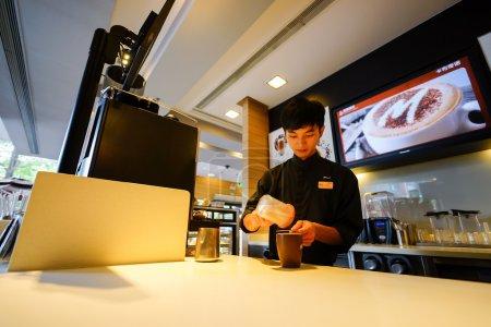 SHENZHEN, CHINA - OCTOBER 22, 2015: McCafe's baris...