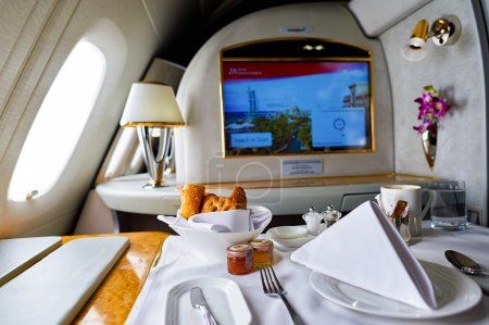 Inside of Emirates Airbus A380