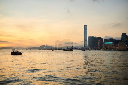 View of Kowloon at twilight