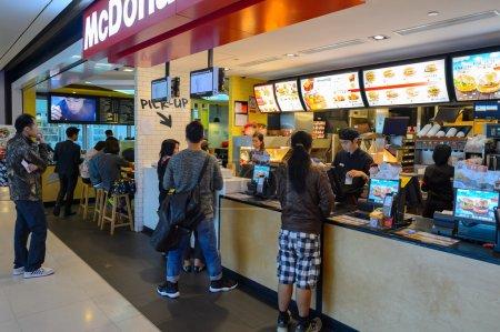 Inside of McDonald's restaurant