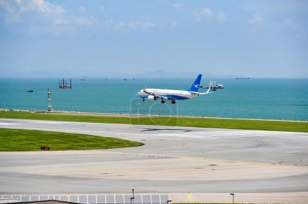 XiamenAir aircraft landing