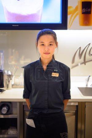 barista in McCafe in Shenzhen