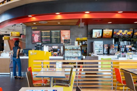 Inside of McCafe in Thailand