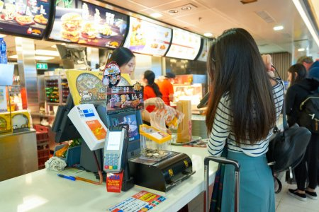 McDonalds restaurant in the Airport