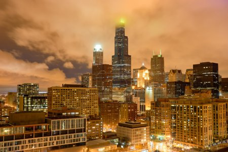 The Willis Tower at night