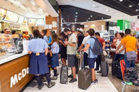 McDonalds in Fiumicino Airport