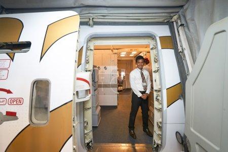 Emirates crew member