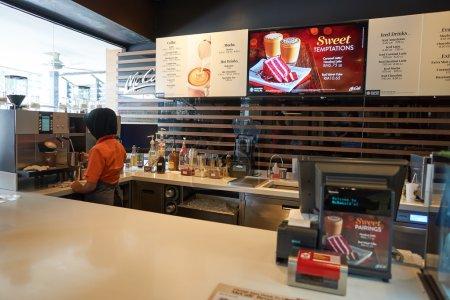 Inside of McDonald's rastaurant