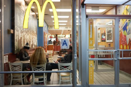 McDonalds restaurant in New York