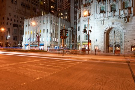Chicago at night time