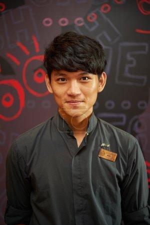 Portrait of barista at McCafe