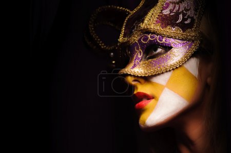 mystery woman with mask
