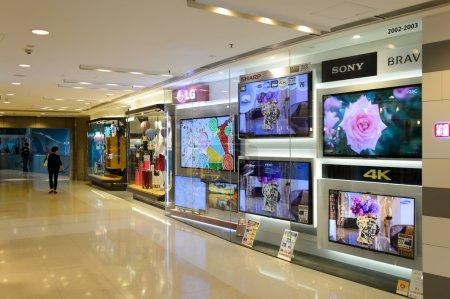 Hong Kong shopping mall interior