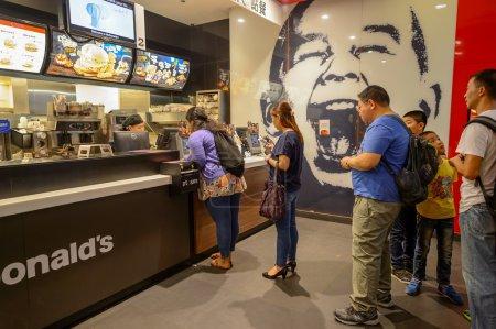 Interior of McDonalds restaurant