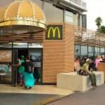 NICE, FRANCE - AUGUST 15, 2015: McDonald's restaur...