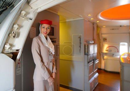 Emirates crew members