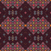 Seamless background with geometric designs in tribal style on a