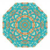 Modrý grafický prvek v podobě kaleidoskop ozdoba kmenový