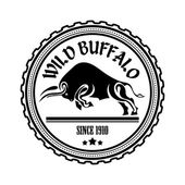Logo label two buffalo bull fighting Design badge for your fa