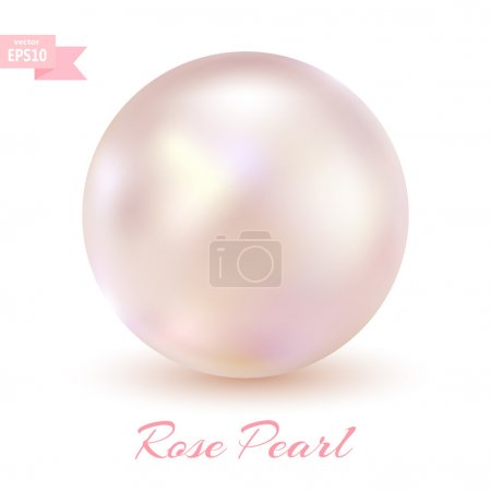Pink pearl isolated on a white background. Glamorous design. Jew