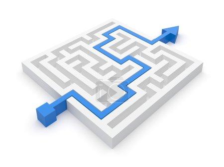 Maze puzzle seasy solution