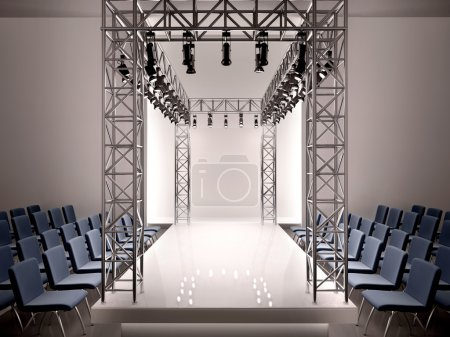 Photo for 3d illustration of fashion catwalk - Royalty Free Image