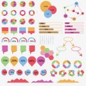 Informace o grafických kruh styl vektorové ilustrace