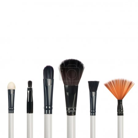 Set of makeup brushes isolated on white background, vector