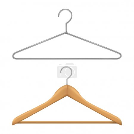 Hanger isolated on white background. Vector illustration. Realistic.