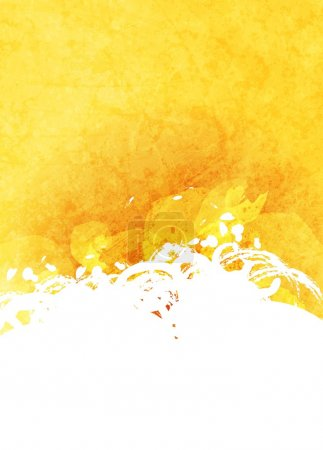 Illustration for Abstract grunge yellow and white background. Vector design - Royalty Free Image