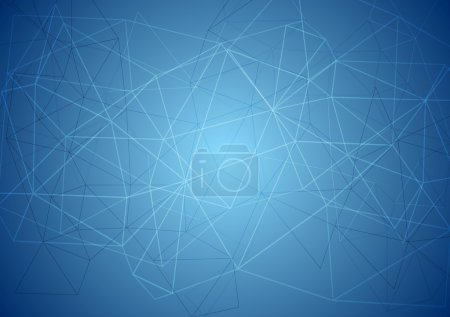 Illustration for Abstract blue tech background. Vector design - Royalty Free Image