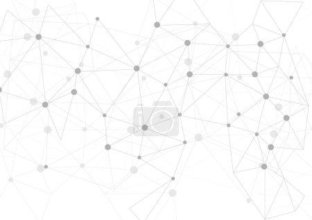 Illustration pour Fond de communication polygonal gris clair. Conception vectorielle - image libre de droit