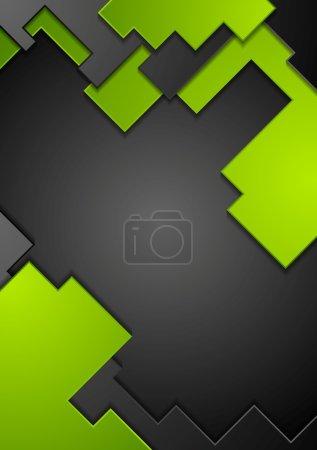 Illustration for Green black contrast technology background. Vector design - Royalty Free Image