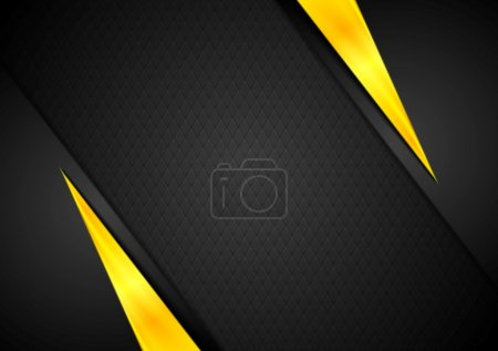 Illustration for Dark contrast black yellow background. Vector design - Royalty Free Image