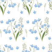 Seamless spring pattern with blue flowers forget me nots Endless texture for your design greeting cards announcements posters