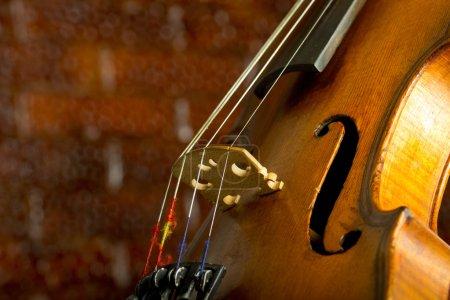 Photo pour Photo de gros plan de violon Vintage - image libre de droit