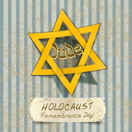 holocaust remembrance day illustration with Star of David. vecto