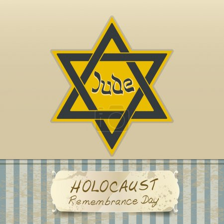 Holocaust remembrance day with Star of David. vect...