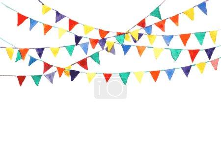 Ilustración de Banderas del empavesado con acuarela. Vector de - Imagen libre de derechos