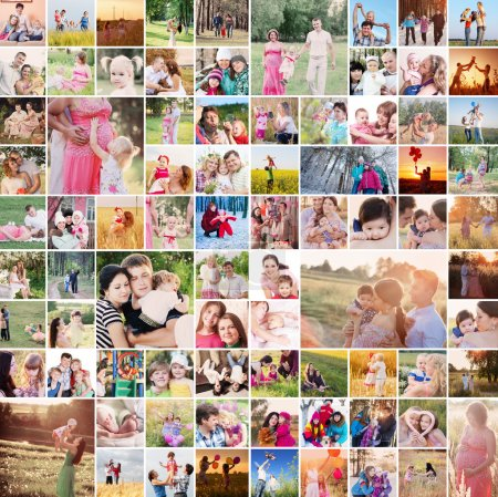 Photo for Collection photos of happy families - Royalty Free Image