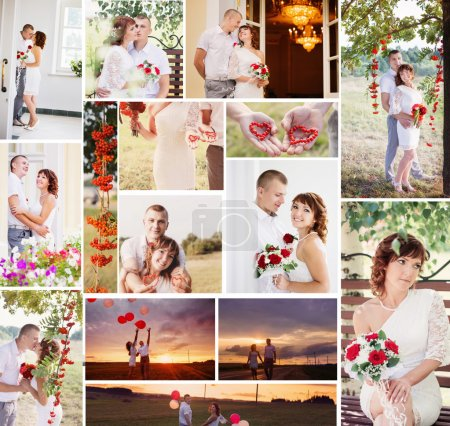 Photo for Collage with wedding couple - Royalty Free Image
