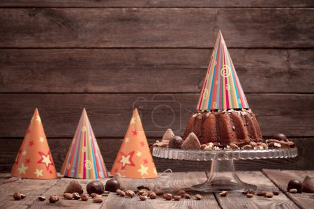 holiday background with cake