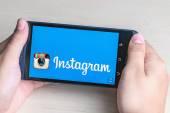 instagram app open in the mobile phone HTC