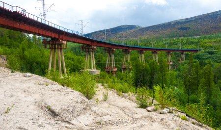 Devil's bridge in Siberia