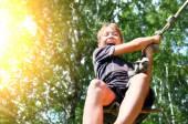 Kid Bungee jumping
