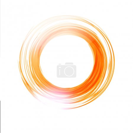Vector abstract orange circle.  Logo design template .