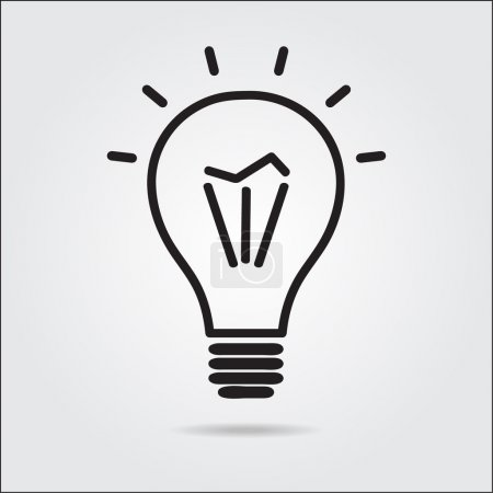 Light bulb logo icon drawn in the manual